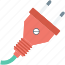 electrical plug, plug, plug connector, power cord, power plug icon
