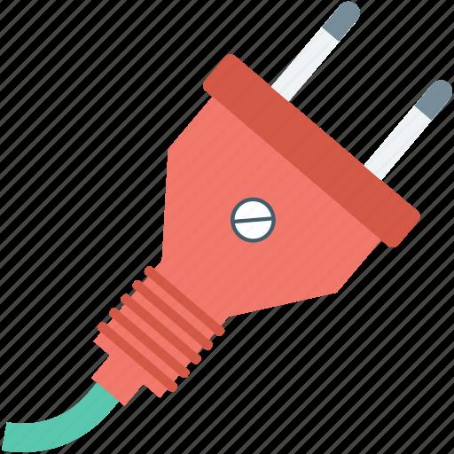 electrical plug, plug, plug connector, power cord, power plug icon