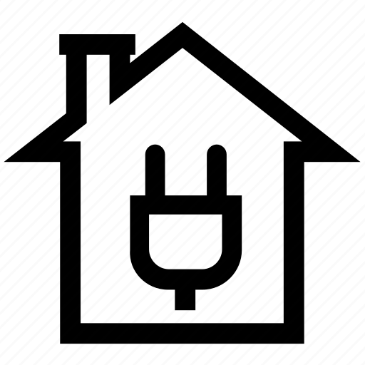 Building, electric, energy, home, house, plug, power station icon - Download on Iconfinder