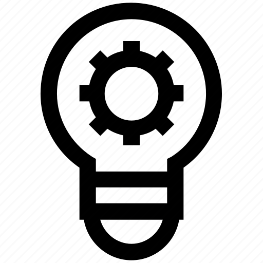 Abstract, bulb, creative, energy, engineering, gear, idea icon - Download on Iconfinder