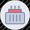 economic, electricity, electricity transformer, energy, power supply, power transformer, radiator icon