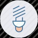 bulb, energy, lamp, light, saving, spiral icon