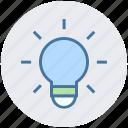bulb, bulb light, creativity, electric, energy, idea, light icon