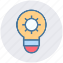 abstract, bulb, creative, energy, engineering, gear, idea icon