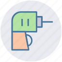 drill, drill machine, electric, electricity, machine, power, power drill icon