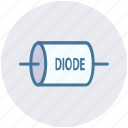 diode, electrical, electronics, energy, equipment, power, technology icon