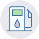 fuel, gas, gas pump, gas station, petrol, petrol station, pump icon