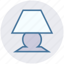 electric, electricity, energy, floor lamp, power, torchere icon