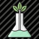 beaker, experiment, flask, lab, testing