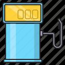 fuel, nozzle, oil, pump, station icon
