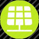energy, power, renewable energy, solar electricity, solar energy, solar panels, solar power icon