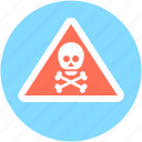 bones, danger, skull, toxic, warning sign