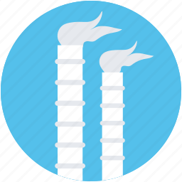 air pollution, factory, factory chimney, mill, smoke icon