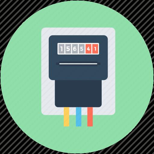digital meter, electricity meter, energy, gas meter, meter icon