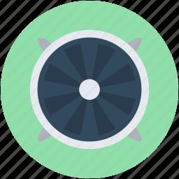 exhaust fan, extractor fan, fan, ventilation, ventilator fan icon
