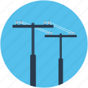 electricity pole, electricity pylon, power mast, transmission pole, utility pylon