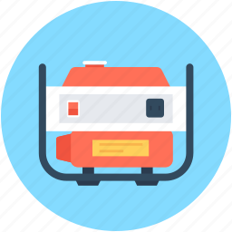 electric generator, electricity, generator, power supply, technology icon