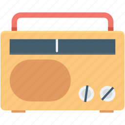 old radio, radio, radio set, technology, transmission icon