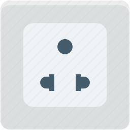 power outlet, power socket, power supply, socket, wall socket icon