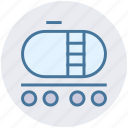 fuel tank, fuel truck, gas tank, petrol tank, tank, trailer icon