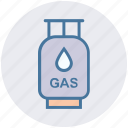 cooking gas, cooking gas cylinder, gas can, gas cylinder, gas tank icon