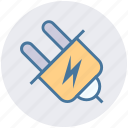 electrical plug, energy, plug, plug connector, plug in, power, power plug icon
