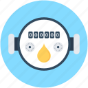 digital meter, electricity meter, energy, gas meter, meter icon