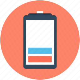 battery, battery charging, battery level, half battery, mobile battery icon