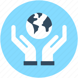earth, hand gesture, planet, save the earth, save the planet icon