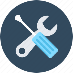 configuration, garage tools, repair tools, screwdriver, wrench icon