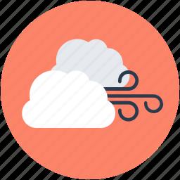 air, cloud, sky, wind, wind blowing icon