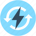 bolt, electricity, energy, power, thunder icon
