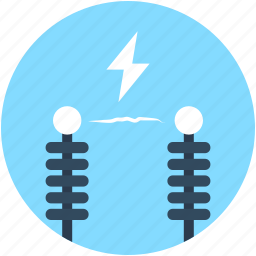 electric power pylon, electric pylon, high voltage tower, power mast, power transmission pole icon
