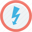 bolt, flashlight, lightning, power, thunder icon