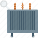 electricity, electricity transformer, power supply, power transformer, radiator icon