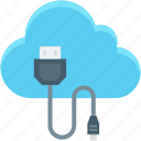 cable, cloud computing, icloud, usb cable, usb cord icon