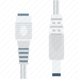 cable, cable cord, extension cord, input, jack cable icon