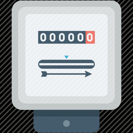 Energy Meter Icon : Digital meter electric electricity gas