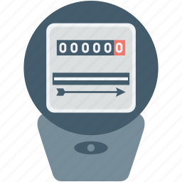 digital meter, electric meter, electricity meter, gas meter, meter icon