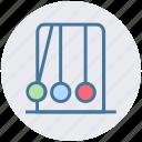 executive ball clicker, newton balls, newton cradle, physics, science icon