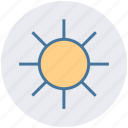 bright day, energy, morning, sun, sunny day, sunshine icon