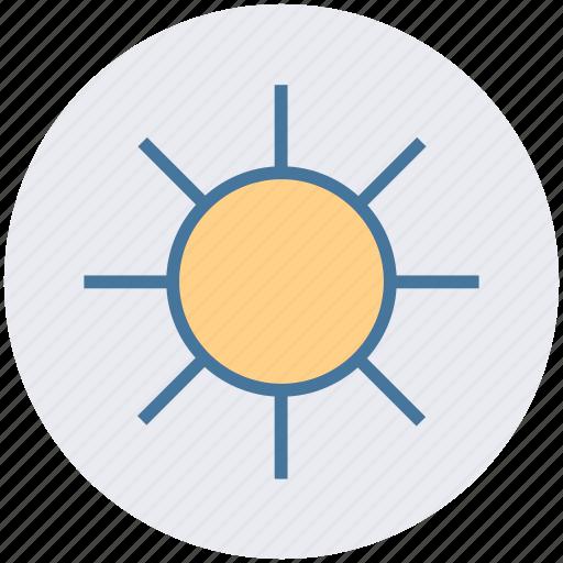 bright day, energy, morning, sun, sunny day, sunshine icon