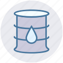 barrel, container, crude, oil barrel, oil container, petroleum icon