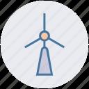 energy, wind energy, wind power, wind turbine, windmill, windmill tower icon