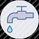 drain valve, hose bib, nul, tap, water nul, water tap icon