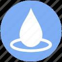 drop, droplet, oil drop, rain drop, water drop icon