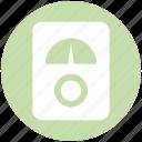 analog device, gauge, gauge meter, meter, pressure gauge, speedometer icon