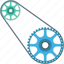 chain, cog chain, gear chain, roller chain, sprocket icon