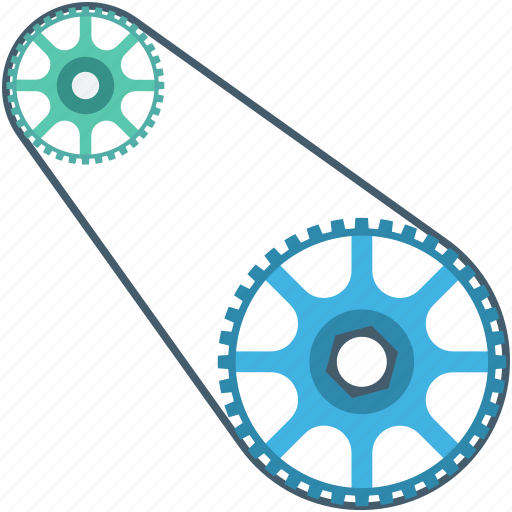 chain, cog chain, gear chain, roller chain, sprocket icon