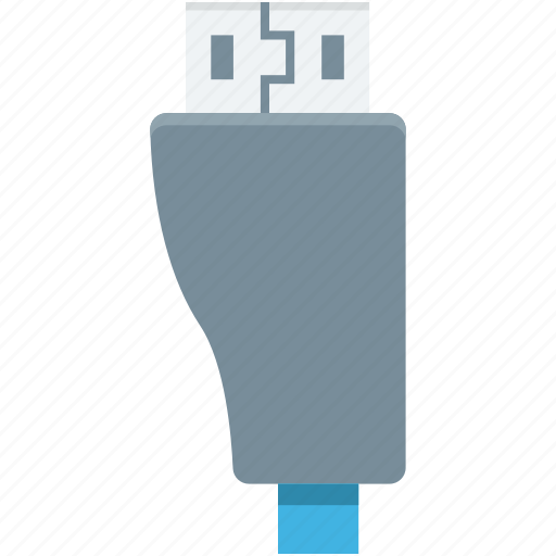 usb cable, usb cord, usb data cable, usb jack, usb plug icon